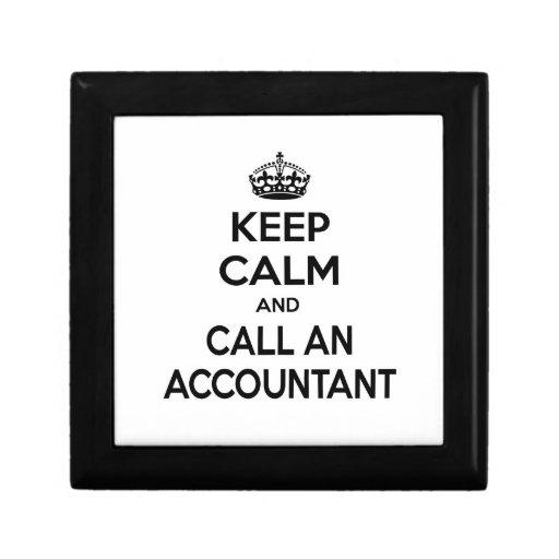 Keep Calm ... Call an Accountant Trinket Boxes