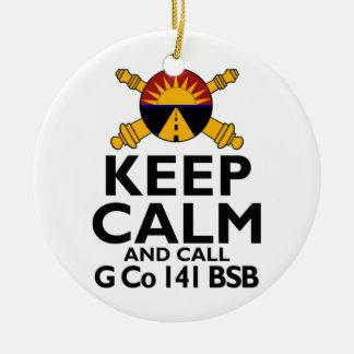 Keep Calm Call G Company Ceramic Ornament