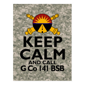 Keep Calm Call G Company Postcard