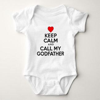 Keep Calm Call Godfather Baby Bodysuit