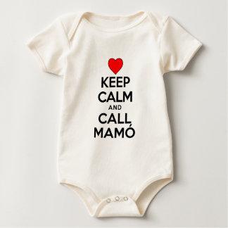 Keep Calm Call Mamo Baby Bodysuit