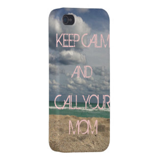 KEEP CALM CALL MOM iPhone 4 CASE