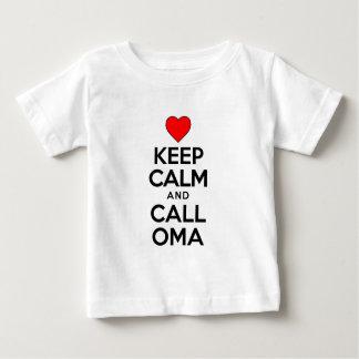 Keep Calm Call Oma Infant T-shirt