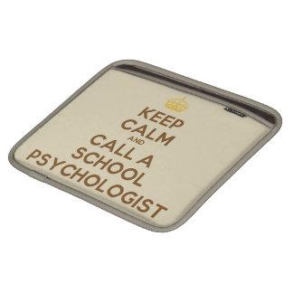Keep Calm Call the School Psychologist iPad Sleeve
