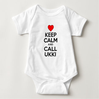 Keep Calm Call Ukki Baby Bodysuit