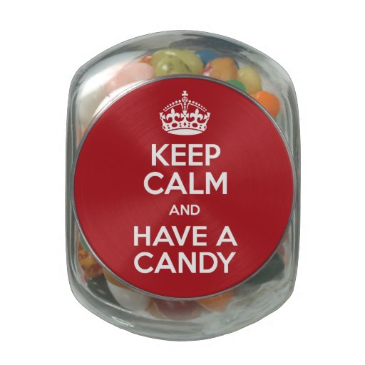 Keep Calm Candy Glass Jar