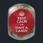 """Keep Calm Candy Jelly Belly Candy Jar<br><div class=""""desc"""">Keep Calm and Have A Candy</div>"""