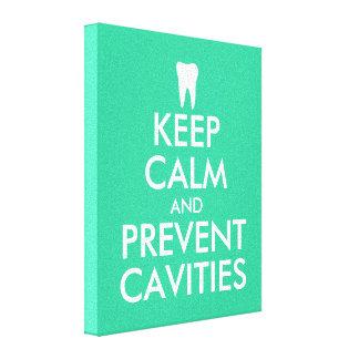 Keep calm canvas print for dentist | dental clinic