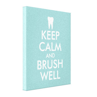 Keep calm canvas print for dentist | dental office