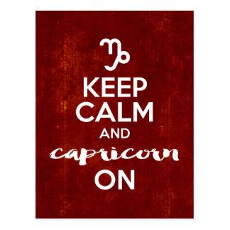 Keep Calm Capricorn On Birthday Horoscope Postcard