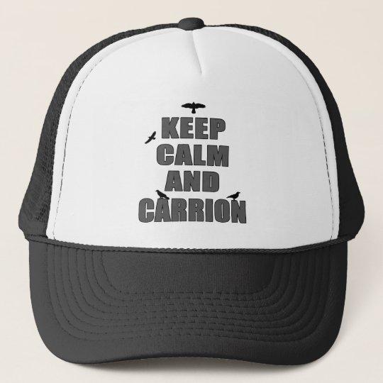 Keep Calm & Carrion Trucker Hat
