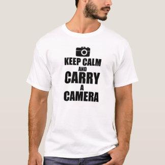 Keep Calm & Carry a Camera T-Shirt
