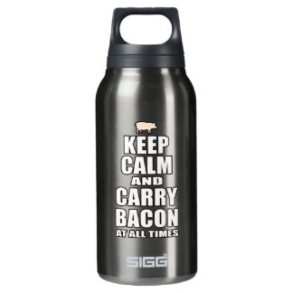 Keep Calm & Carry Bacon Insulated Water Bottle