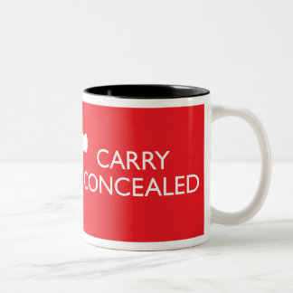 Keep Calm Carry Concealed 2-Tone Red Wrap Mug