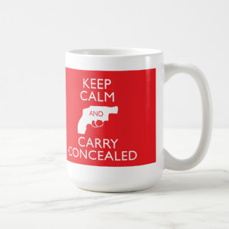 Keep Calm Carry Concealed Big Red Mug