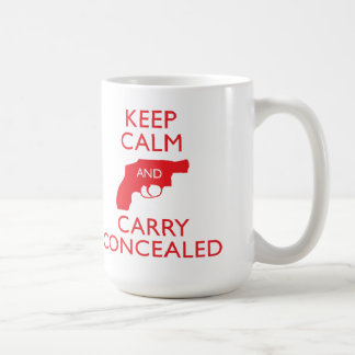 Keep Calm Carry Concealed Big Red Mug 2