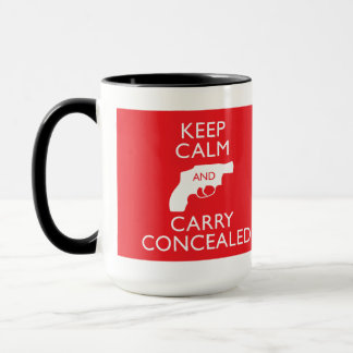 Keep Calm Carry Concealed Big Red Ringer Mug