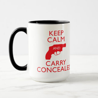 Keep Calm Carry Concealed Big Red Ringer Mug 2