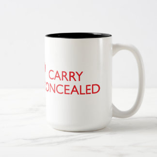 Keep Calm Carry Concealed Big Red Wrap 2-Tone 2 Two-Tone Coffee Mug