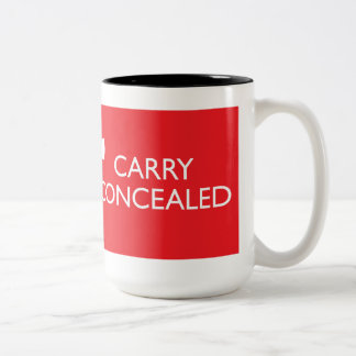 Keep Calm Carry Concealed Big Red Wrap 2-Tone Two-Tone Coffee Mug