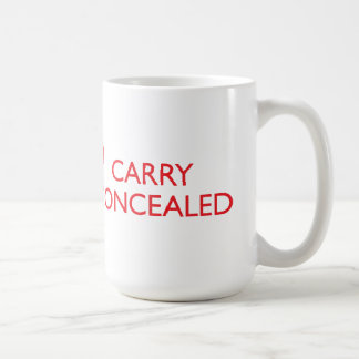 Keep Calm Carry Concealed Big Red Wrap Mug 2