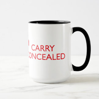 Keep Calm Carry Concealed Big Red Wrap Ringer 2 Mug