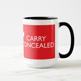 Keep Calm Carry Concealed Big Red Wrap Ringer Mug