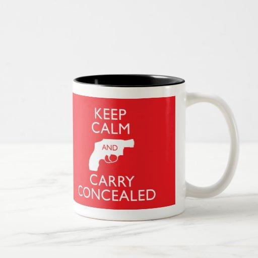 Keep Calm Carry Concealed Red 2-Tone Mug
