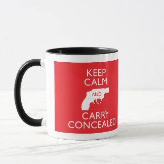 Keep Calm Carry Concealed Red Ringer Mug