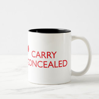 Keep Calm Carry Concealed Red Wrap 2-Tone Mug 2