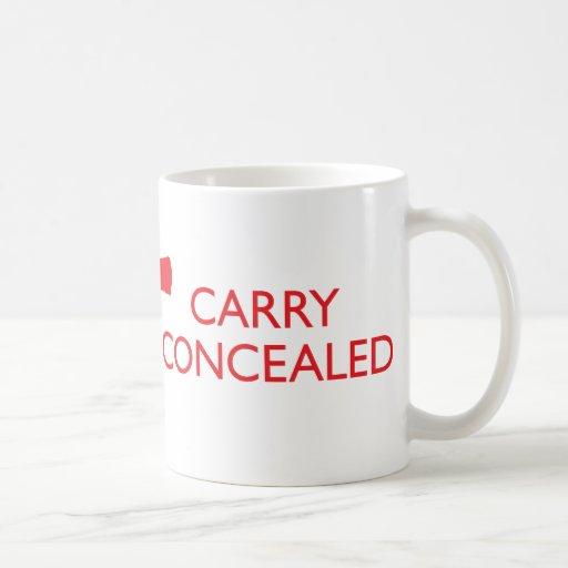 Keep Calm Carry Concealed Red Wrap Mug 2