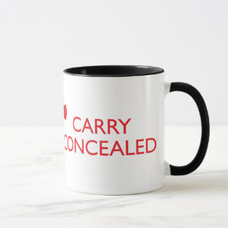 Keep Calm Carry Concealed Red Wrap Ringer Mug 2