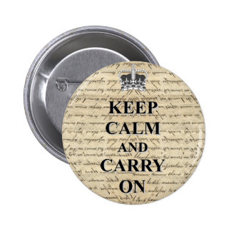 Keep Calm & Carry On 2 Inch Round Button