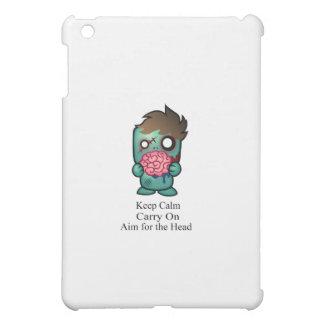 Keep Calm Carry On Aim for the Head iPad Mini Case