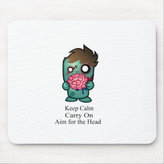 Keep Calm, Carry On, Aim for the Head Mouse Pad