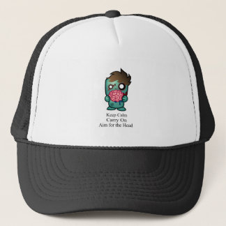 Keep Calm, Carry On, Aim for the Head Trucker Hat