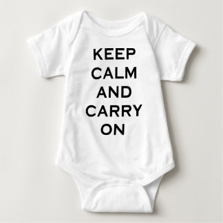 Keep Calm Carry On Baby Bodysuit