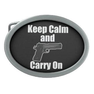 Keep Calm Carry On Belt Buckle