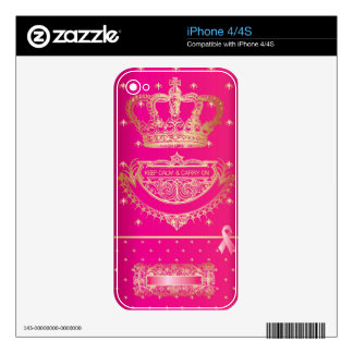 Keep Calm & Carry On Breast Cancer Products. iPhone 4 Skins