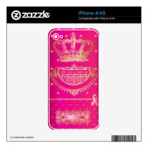 Keep Calm & Carry On Breast Cancer Products. Skin For The iPhone 4S