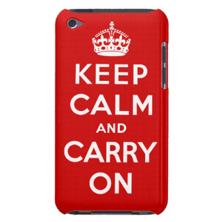 Keep Calm & Carry On Brit Poster iPod Touch Case