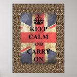 Keep Calm Carry On British Flag Print