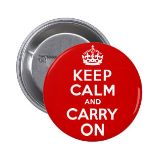 Keep Calm Carry On Button
