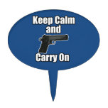 Keep Calm Carry On Cake Topper