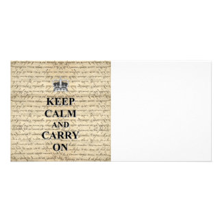 Keep Calm & Carry On Card