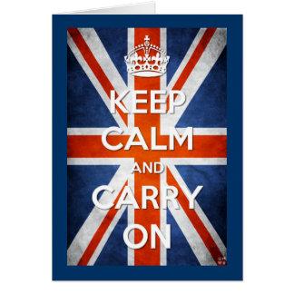 Keep Calm & Carry On Card