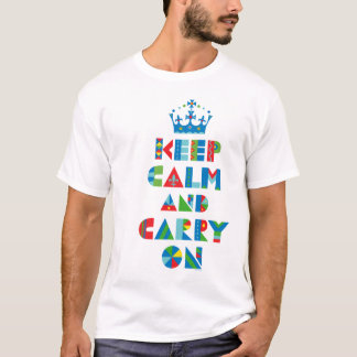 Keep Calm Carry On - colors T-Shirt
