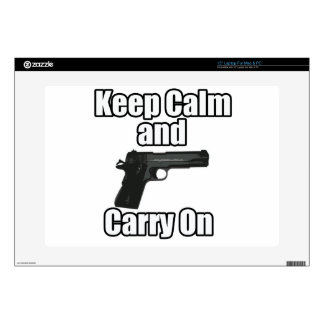 "Keep Calm Carry On Decal For 15"" Laptop"