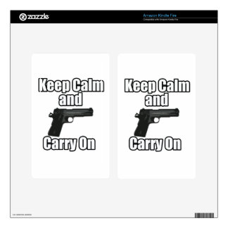Keep Calm Carry On Decals For Kindle Fire
