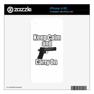 Keep Calm Carry On Decals For The iPhone 4